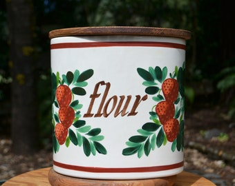 Mid-Century Bauer Flour Canister