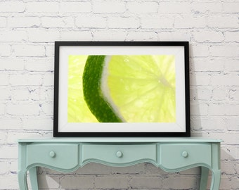 Green Limes Photo Print Vegan Food Photo Wall Art Still Life Photography Food Photography Photo Print Fruit Photo Kitchen Decor Restaurant