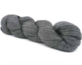 Rooster Yarns Delightful Lace Weight Alpaca Silk - Charcoal Grey 603