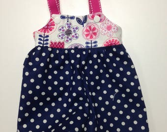 "Polka Dots Romper fits 14.5"" Wellie Wishers 15"" Bitty Baby 18"" American Girl"