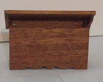 Vintage American Design Wooden Dollhouse Miniature Chest