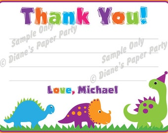 Dinosaur Thank You Card (Printable DIY)