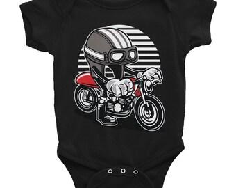 Cafe Racer Helmet Infant Bodysuit Onesie
