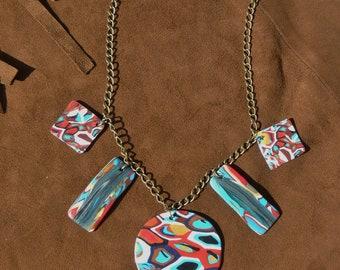 """Yucatan"" #collier #necklace #hippiestyle #bijouxethniques #ethnicjewels #yucatan #bijouxamerindiens #boho polymer clay necklace"