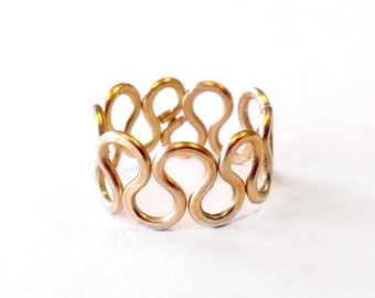 Toe Ring - Adjustable Crown Toe Ring in Gold - Gold Plated Wire - Gold Toe Ring - Hammered Wire Toe Ring