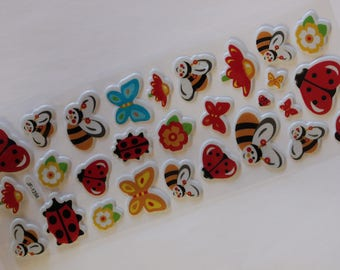 sheet of 28 bugs scrapbooking stickers