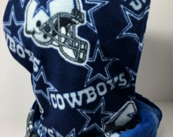 Dallas Cowboys Handmade Hooded Scarf hoodie hood blue circle scarf