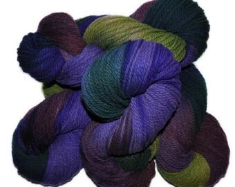 Hand dyed yarn - Columbia Wool yarn, Worsted weight, 170 yards - Forseti