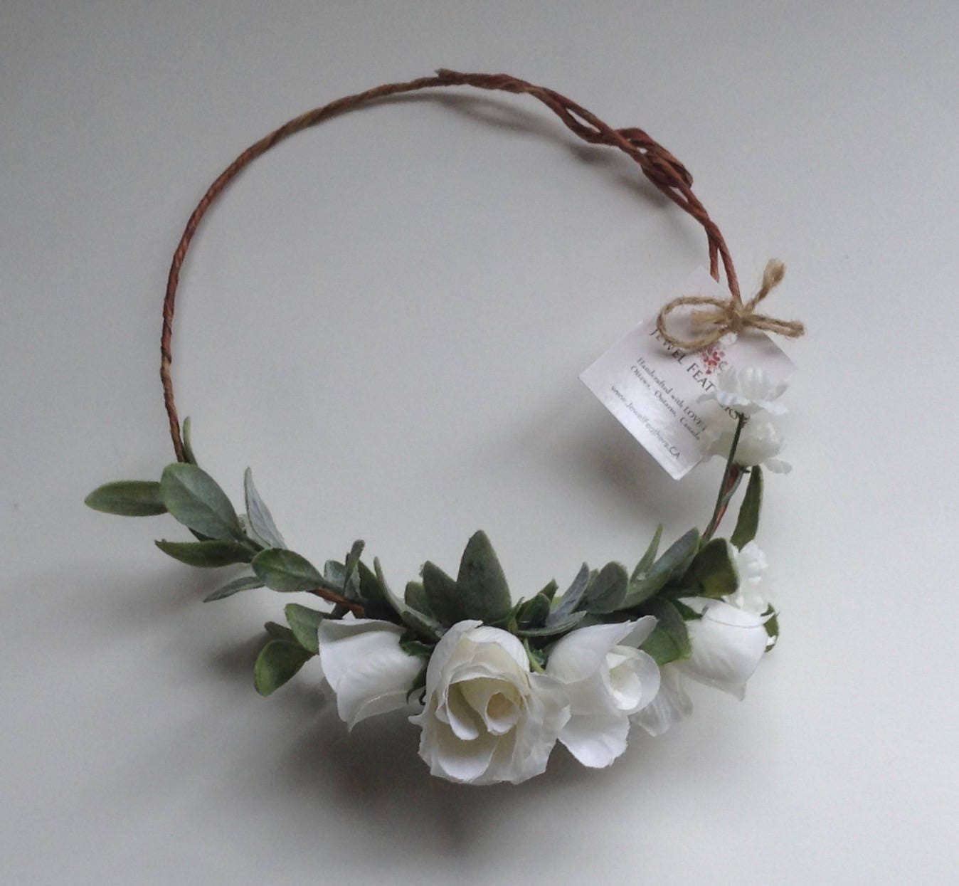Our Catherine Rose Flower Crown White Or White