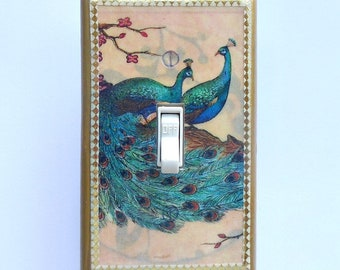 MATCHING SCREWS & top quality Peacock Switch plates Peacock wall decor peacock switch plates peacock wallpaper peacock peacock outlet covers