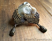 Macramé earrings , micromacrame, boho jewelry, ethnic  earrings, gift for her, personalized jewelry, elven, gypsy earrings, hoop earrings