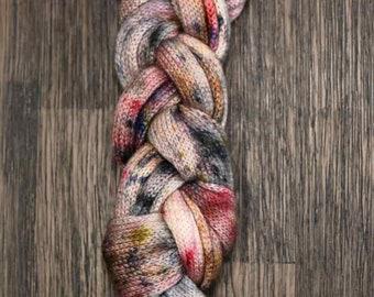 Hand Dyed Yarn - OOAK Sock Blank - Superwash Merino Nylon 420 yards 115 grams