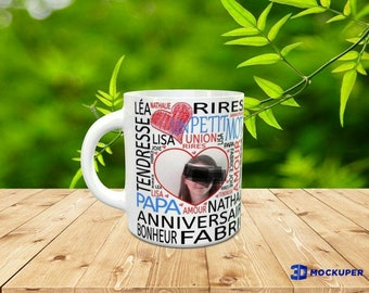 personalized Valentine's Mug, your words your photos.