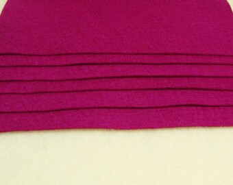 "Pure 100 Percent Wool Felt 8"" x 12"" Sheet, 1 mm thick VIOLET"