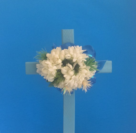 Cemetery flowers, cemetery marker, flowers for grave, grave decoration, memorial cross
