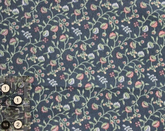 "Country Cottage Blue floral vine 100% cotton fabric 42"" - 45"" wide by PS Designs"