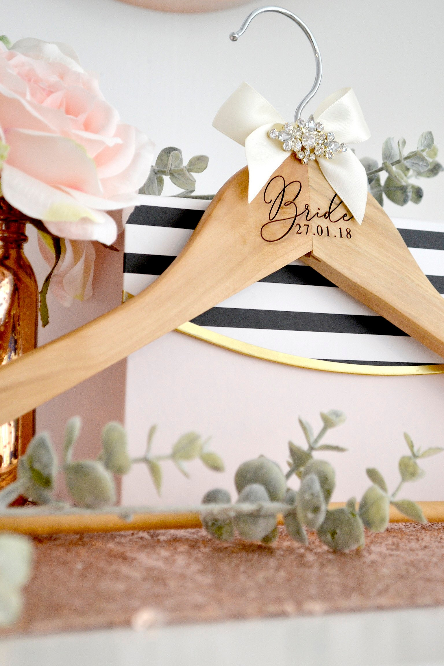 Wedding Hanger Wedding Gift Personalised Wedding Hanger Luxury
