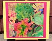 Succulent Watercolor Pain...