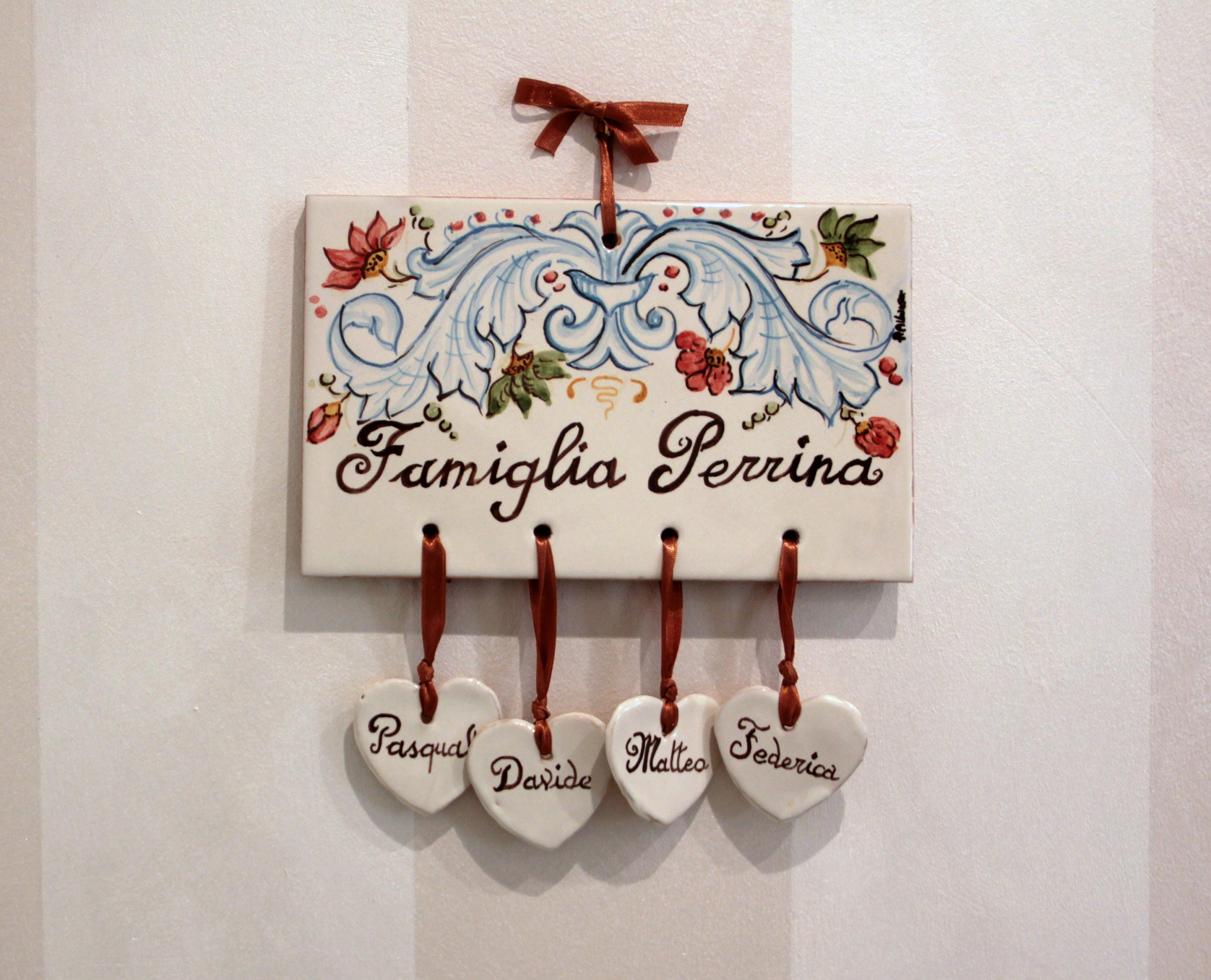 Custom names signs address plaque home number plaques family name custom names signs address plaque home number plaques family name sign personalized plaques to hang ceramic italy tiles family plaque dailygadgetfo Images