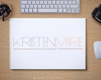 Photography Logo and watermark - watercolor logo design