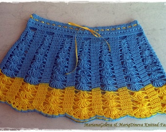 Mesdames jupe crochet plage