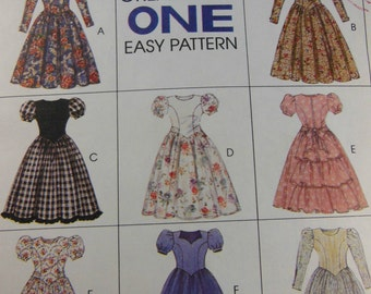 McCall's 7541 Girls  Dresses 8 Designs  Size 4-5-6   Uncut New