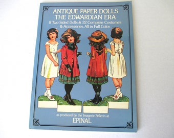 Antique Paper Dolls-The Edwardian Era 1975, Paper Dolls, Vintage Paper Dolls