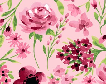 "Clothworks, From Ellen Crimi-Trent, ""Marguerite"" Pink flowers"