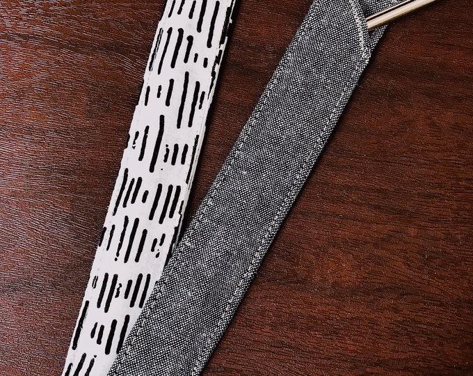 Black and White Straw Sleeve set