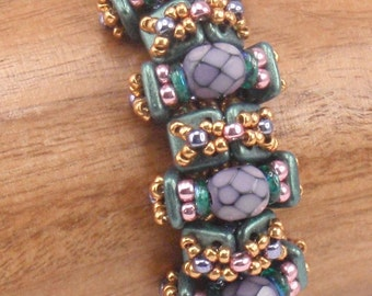 Beading Tutorial for Galapagos Bracelet, jewelry pattern, beadweaving tutorials, instant download, PDF