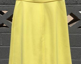 Vintage yellow polyester skirt