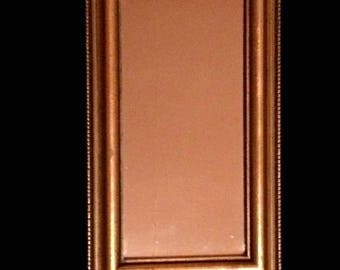 """Small 9.5x5.5"""" Rectangle Gold Gilt Vintage Hollywood Regency Mirror #3468"""