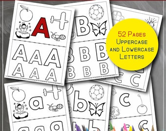 Alphabet Coloring Book - Printable PDF Book