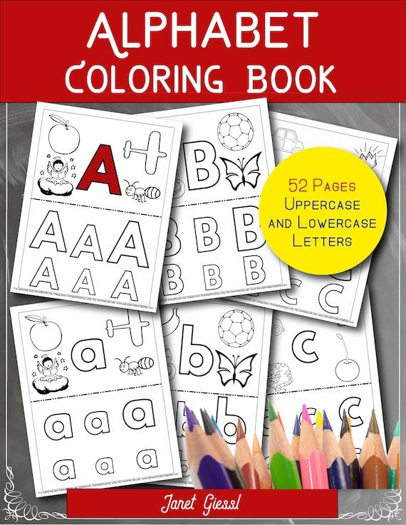 Alphabet Coloring Book Printable PDF Book