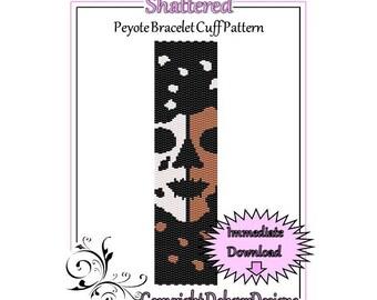 Bead Pattern Peyote(Bracelet Cuff)-Shattered