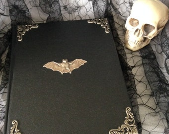 Gothic Silver Bat Sketch Book Journal
