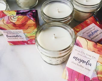 Floral Soy Candles   Gardenia   Lavender   Magnolia   Stocking Stuffers