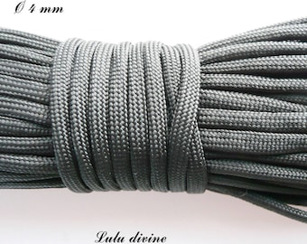 Cord / Paracord 550 4 mm: black