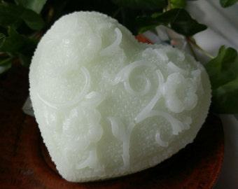 Gardenia Shea Butter Glycerin Heart Soap - Vegan -
