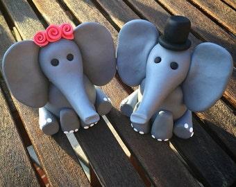 Elephant: Wedding Cake Topper