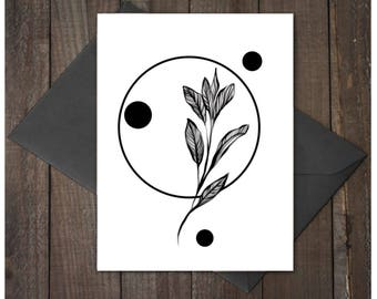 Sage, Dandelion, Note Card and Gift Tag bundle,  printable flower gift tags, flower, note cards, birthday card, shower, thank you cards