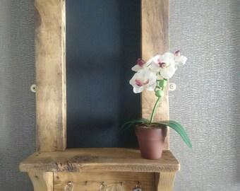 Rustic chalkboard key hook