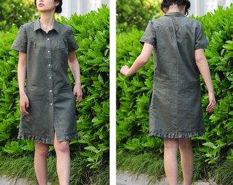 Private listing for kksuarez/Doll's Tea Time Dress with Vertical Pleats and Ruffles