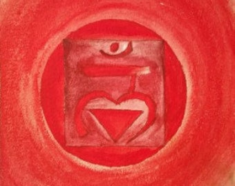 Red Chakra Print
