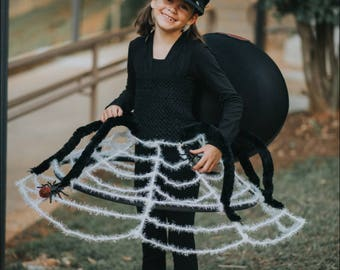 girls black widow spider dress halloween costume newborn 5t
