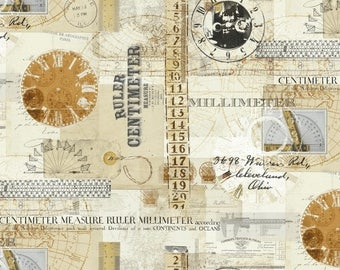 Windham - Measure - Collage - Multi - Fabric by the Yard 43120-X