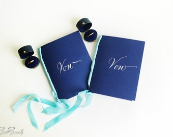 Custom Handmade Wedding Vow booklet