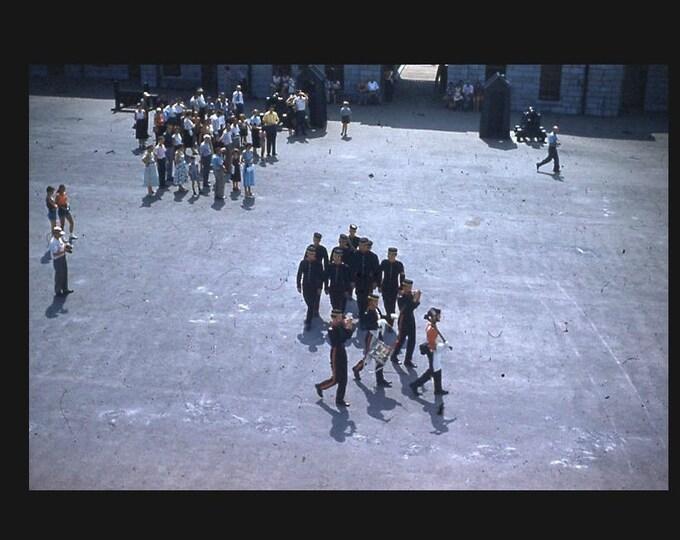 Fife & Drum, 1950s: Kodachrome Red Border 35mm Slide/Transparency Vintage Photo Snapshot (7316-27)