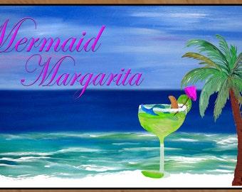 Mermaid Margarita indoor-outdoor floor mat