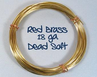 18ga 10ft DS Red Brass Wire